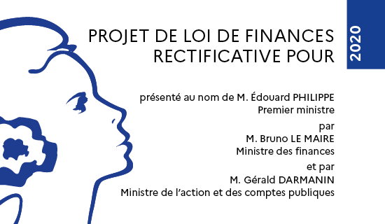 Projet Loi de Finances rectificative pour 2020